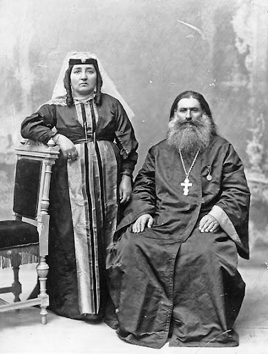An Orthodox Priest and his Wife