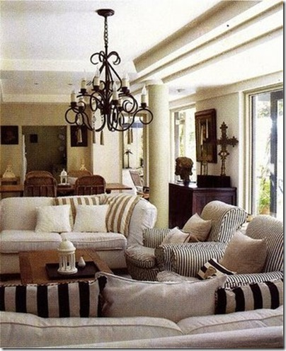 decorno striped living room