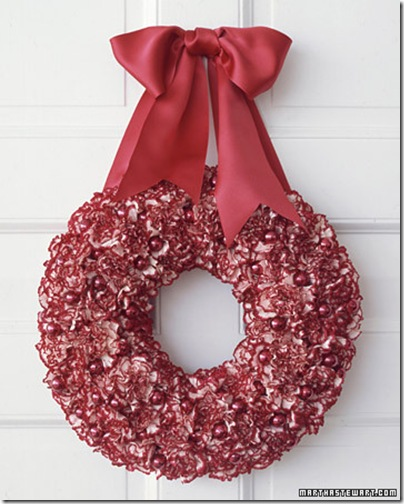 martha stewart dot com carnation wreath