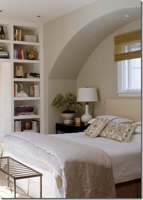 bedroom with arch via decorology