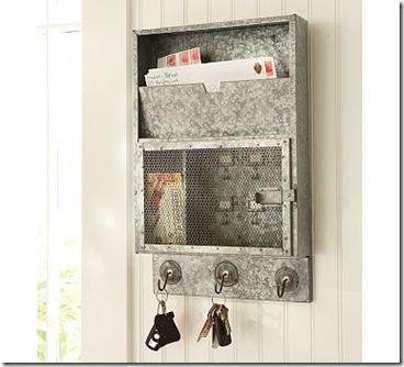 silver- pb galvanized metal key cabinet