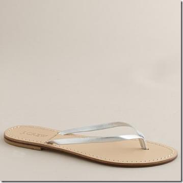 silver- jcrew capri sandal