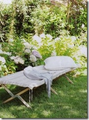 camilla at home via country living outdoor cot