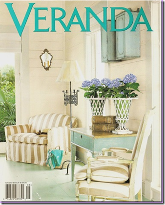 veranda cover with stiped chair