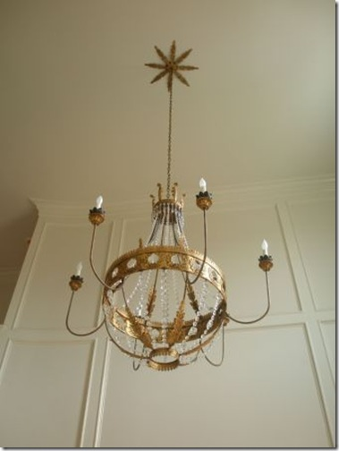 julie neill- Custom Vanessa Chandelier with Sunburst Canopy