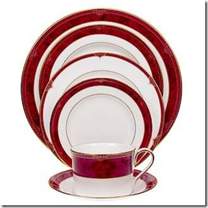 Spode Bordeaux dinnerware