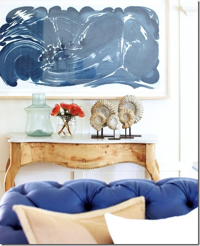 blue painting via heidi clare via style at home