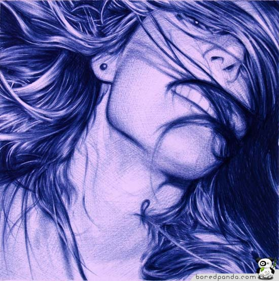 Borepanda: 25 Photorealistic Pictures Drawn with a BIC Pen