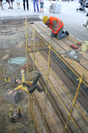 44 amazing julian beever s 3d pavement drawings bored panda 3d drawing website