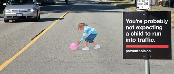 3D Illusion Painted to Slow Down Traffic [Pic]