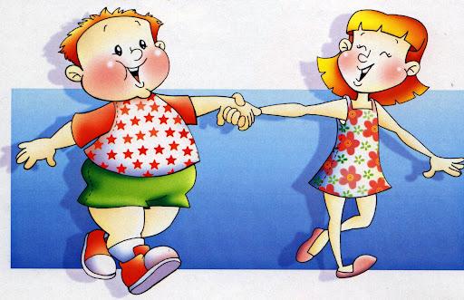 Dibujos de niños gordos y flaco para colorear - Imagui