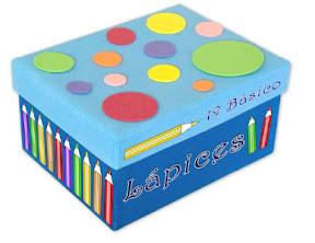 Caja decorada con goma eva para organizar los materiales - Decorar una caja de zapatos para ninos ...