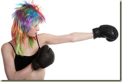 The girl the boxer