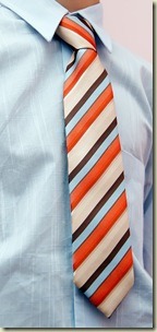 detail of a business man with coloured tie