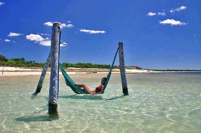 海水上的吊床