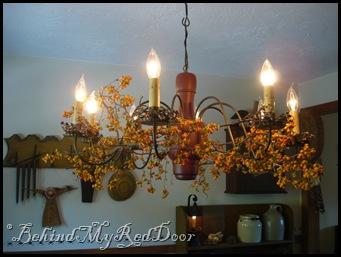 bittersweet on chandelier