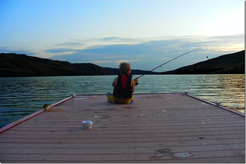 DJ Fishing off dock