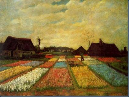Van Gogh - (Vincent Van Gogh), Campo de tulipanes