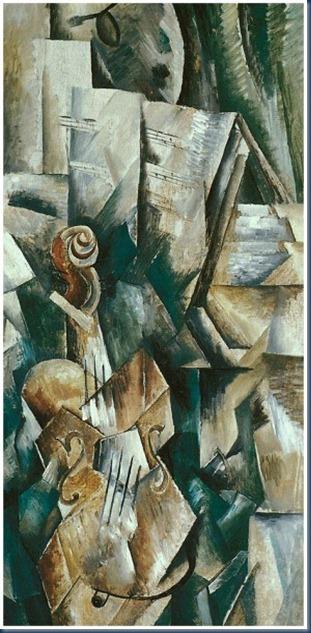 Violín y paleta 1910