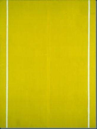 Pintura amarilla Barnett Newman 1949