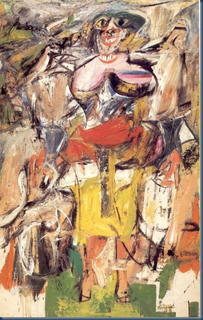 Willem de Kooning Woman and Bicycle 1952-1953
