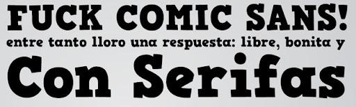 Fuck Comic Sans. Comic Serif, un trabajo de Hannes Von Döhrne