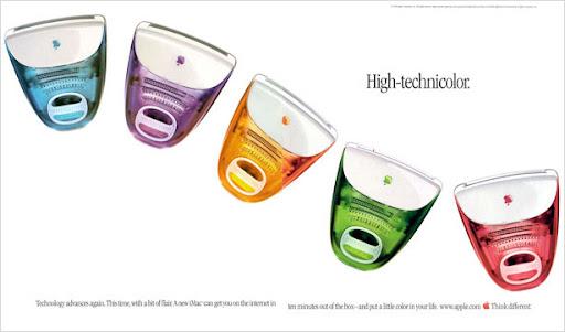 Publicidad iMac: High-Technicolor