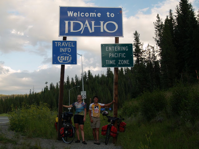 Entering Idaho for the second time, the real way (by bike)