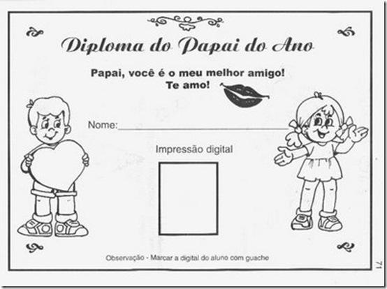 Dia dos Pais diploma