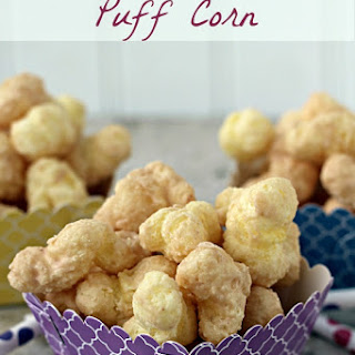 Cinnamon White Chocolate Puff Corn