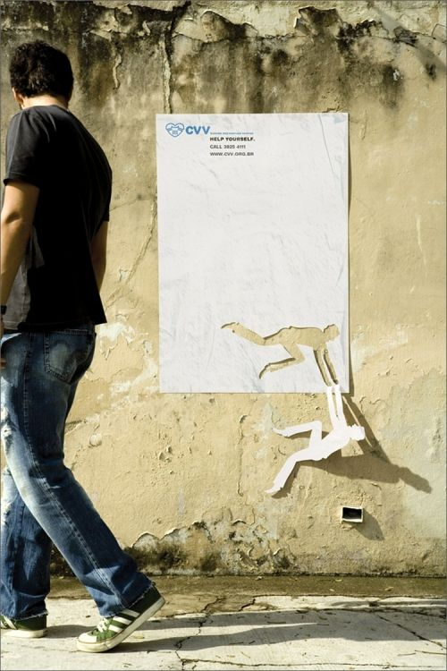 Creative Ad for suicide hotline