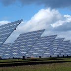 Painéis fotovoltaicos na cidade de Moura, em Portugal