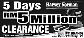 Harvey-Norman-5Million-Clerance-2011-EverydayOnSales-Warehouse-Sale-Promotion-Deal-Discount