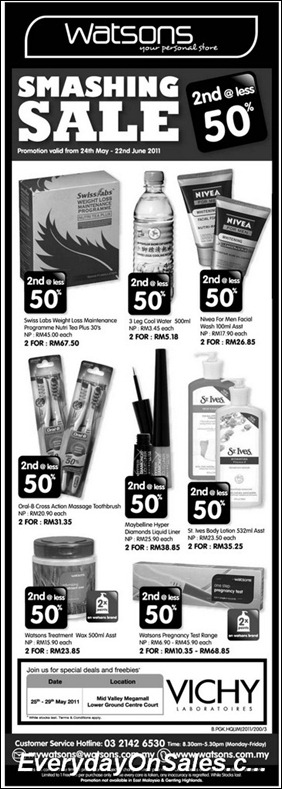 watsons-sale-2nd@less-2011-EverydayOnSales-Warehouse-Sale-Promotion-Deal-Discount