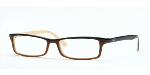 Óculos RX5065 Ray Ban Marrom com Creme