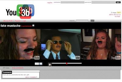 「You3b」3つのYouTube映像を同時に視聴
