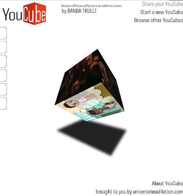 「YouCube」YouTube動画をキューブで3Dに6動画 同時再生