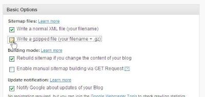「Write a gzipped file (your filename + .gz) 」のチェックをはずす必要はなさそう