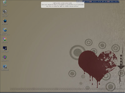 エリア指定スクリーンショット(Ctrl + Print Screen)を行なった際の表示