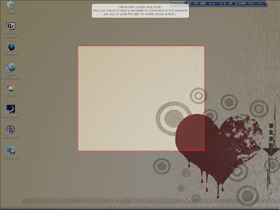 クリック&ドラッグで左クリックから指を離すと、囲んだ赤い枠内の画面がスクリーンショットが撮影されます。