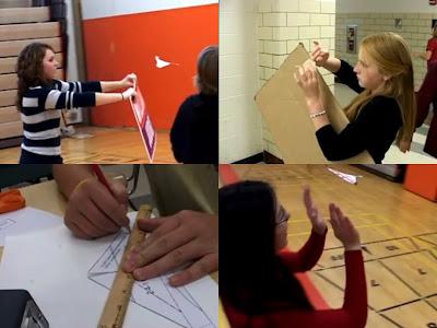 【動画】折り紙でグライダーを作って飛ばす。