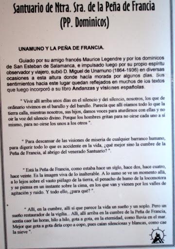 Comunicado de los dominicos de la Peña de Francia sobra la visita de Unamuno
