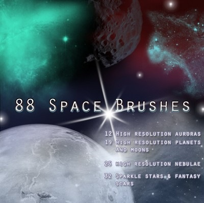 space photoshop brushes