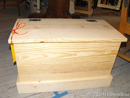 unfinished toy box