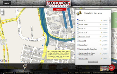 Monopoly City Streets - Searching for Available Streets