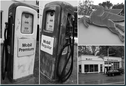 mobil gas collage