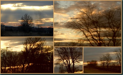 PA sunset collage