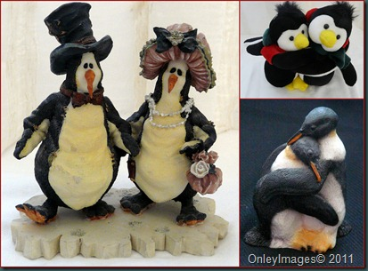 penguin lovers collage
