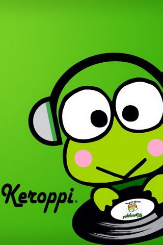 iPhone Wallpaper Keroppi DJ