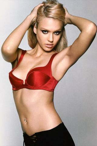Jessica Alba Looks Sexy Photo iPhone Wallpaper